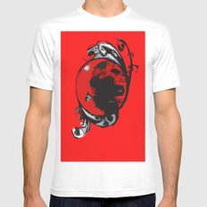 red planet Mens Fitted Tee White MEDIUM