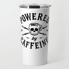 Powered By Caffeine Travel Mug