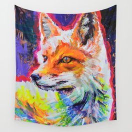 Fox Colors Wall Tapestry