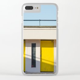In scooter, yellow cabins Clear iPhone Case