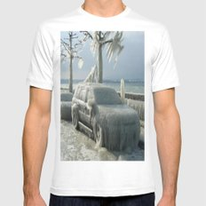 ıce storm White MEDIUM Mens Fitted Tee