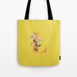 L for Lisianthus Tote Bag