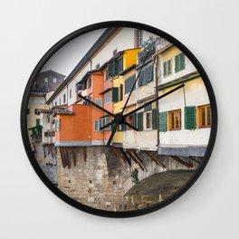 Ponte Vecchio Firenze Florence Tuscany Italy Wall Clock