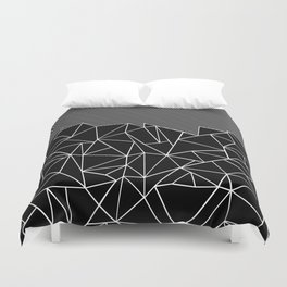 Ab Lines 45 Black Duvet Cover