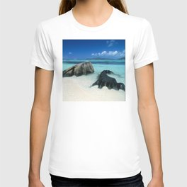 Seychelles Tropical Island Paradise White Sand Beach T-shirt