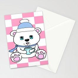 Polar Bear Drinking Hot Chocolate Stationery Cards