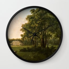 Classical Masteripiece 'A View of the South Front of Bower House, Havering-atte-Bower' by Abraham Pe Wall Clock
