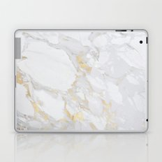 Marble with Gold Laptop & iPad Skin