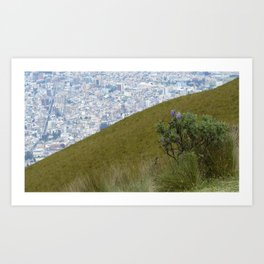 Quito from above Art Print