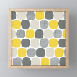 Wonky Ovals in Yellow Framed Mini Art Print