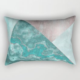 Gemstone And Geode Triangles Rectangular Pillow