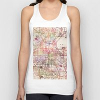 denver Tank Tops featuring Denver by MapMapMaps.Watercolors