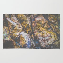 colorful textured rock background Rug