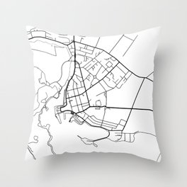 Stornoway Minimalist City Map Throw Pillow