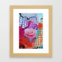 Roses Are Free Framed Art Print