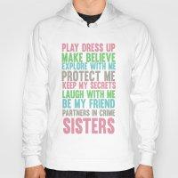 sisters Hoodies featuring sisters by studiomarshallarts
