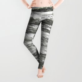 abstract charcoal drawing Leggings