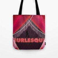 burlesque Tote Bags featuring burlesque by veronique jacquart