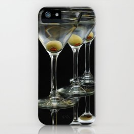 Three Martini's and three olives.  iPhone Case
