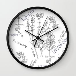 Summer herbs Wall Clock