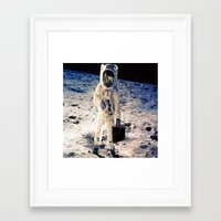 lawyer Framed Art Prints featuring Astronaut lawyer  by rivercbishop