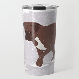 playing in the snow Travel Mug