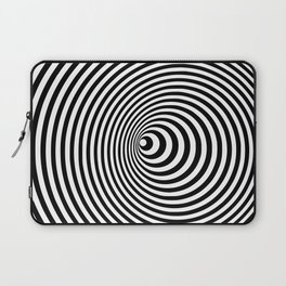 Vortex, optical illusion black and white Laptop Sleeve