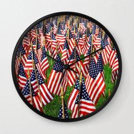 Field Of Flags Wall Clock