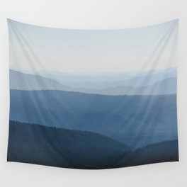 Smoky Blue Mountains Wall Tapestry