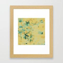 Yellow abstract art print Framed Art Print