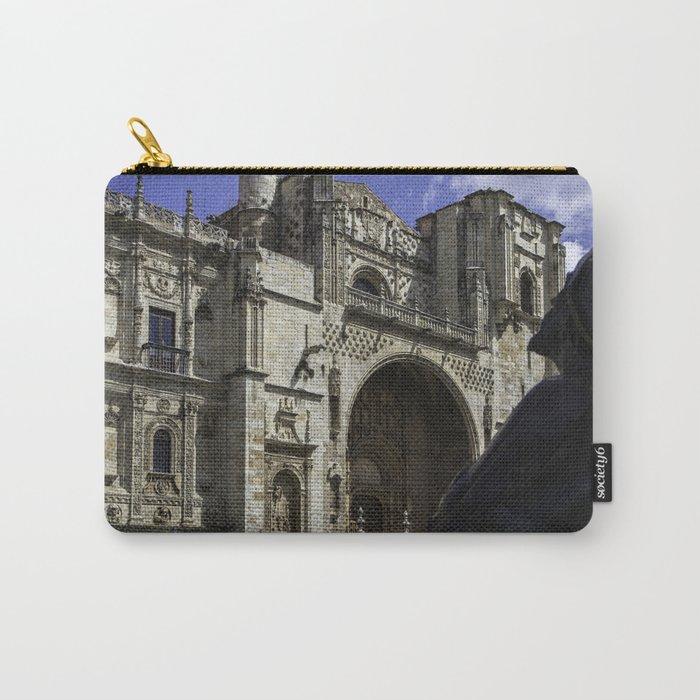 Camino Pilgrim Leon Spain Carry-All Pouch