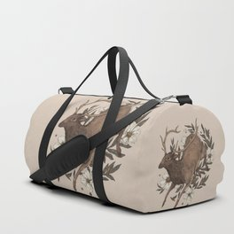 Floral Elk Duffle Bag