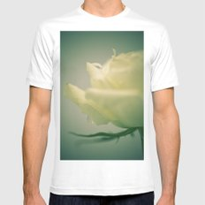 Rose White MEDIUM Mens Fitted Tee