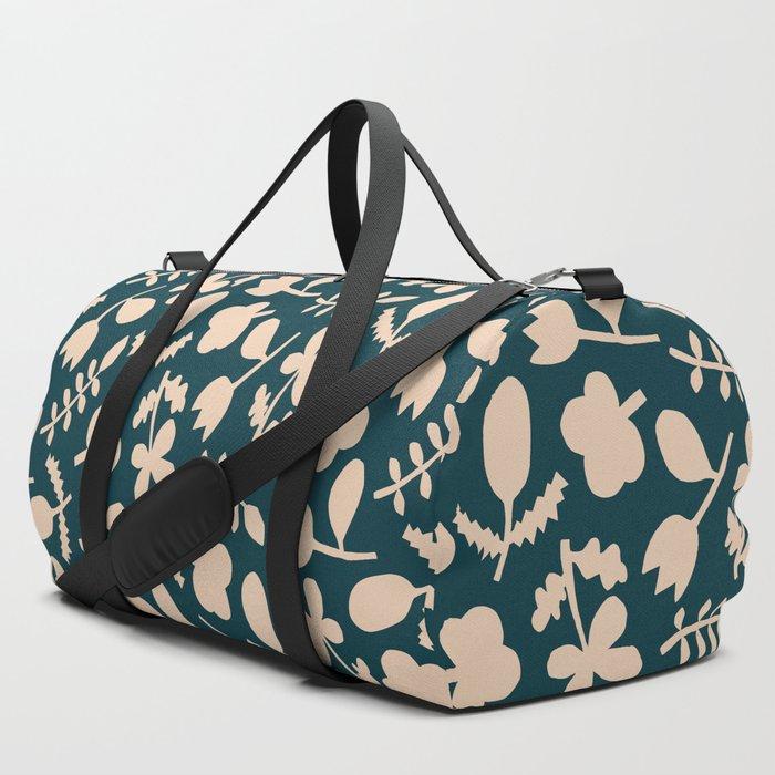 Floral Vase | Blue, Red, + Peach Duffle Bag