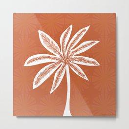 mod palms, burnt orange Metal Print