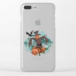 Scary Scarecrow Clear iPhone Case