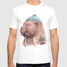 Tattooed Walrus Mens Fitted Tee White MEDIUM