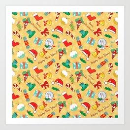 Christmas candy,bells and santa hat SB5 Art Print