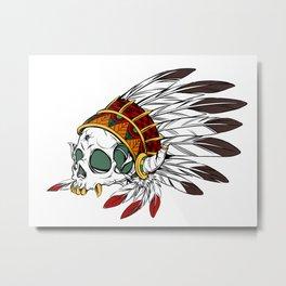 Geronimo's Head Metal Print