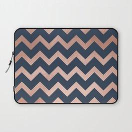 Blue & Pink Chevron Laptop Sleeve