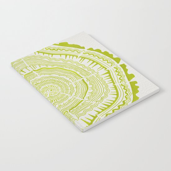 Lime Tree Rings Notebook