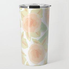 Watercolor Flower Bud Travel Mug