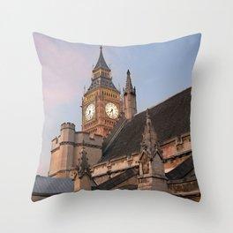 Big Ben over London Throw Pillow