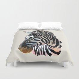 Zebra Painting Print - Safari Art Zebra Head Wall Art Duvet Cover