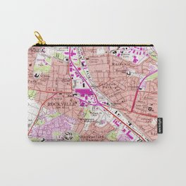 Vintage Map of Rockville Maryland (1965) Carry-All Pouch