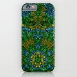 Yellow Green and Blue Kaleidoscope iPhone Case