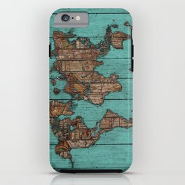 Wood Map iPhone Case