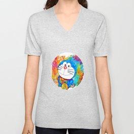 Doraemon Unisex V-Neck