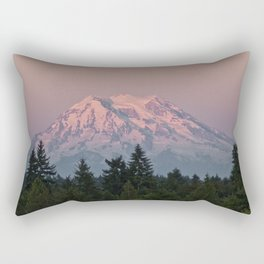 Mt. Rainier at Sunset Rectangular Pillow