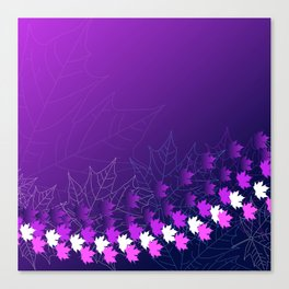 Purple and pink autumn Canvas Print